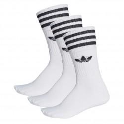 Adidas Originals Solid Crew Socks 3 Pairs 3 Páras Zokni (Fehér-Fekete) S21489