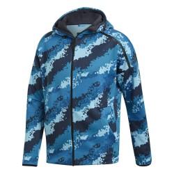 Adidas ZNE Allover Print FR Hoodie Férfi Felső (Kék) DP5148