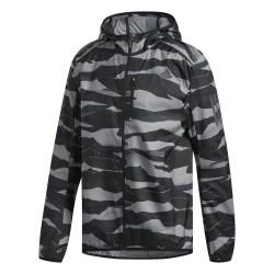 Adidas Own The Run Jacket Férfi Futó Dzseki (Fekete-Fehér) DQ2545