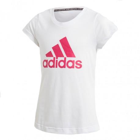 Adidas MH Badge Of Sport Tee Lány Gyerek Póló (Fehér-Rózsaszín) DV0321