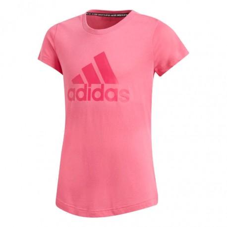 Adidas MH Badge Of Sport Tee Lány Gyerek Póló (Rózsaszín) DV0326