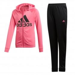 Adidas YG Hooded Track Suit Lány Gyerek Melegítő Együttes (Fekete-Rózsaszín) DV0841