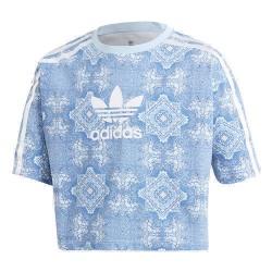 Adidas Originals Culture Clash 3 Stripes Tee Lány Gyerek Póló (Kék-Fehér) DV2355