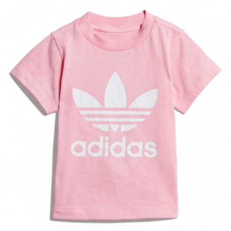 Adidas Originals Trefoil Tee Kislány Bébi Póló (Rózsaszín-Fehér) DV2831