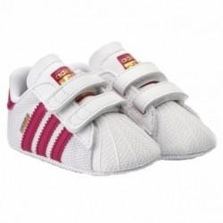 Adidas Originals Superstar Crib Kislány Bébi Kocsicipő (Fehér-Rózsaszín) S79917