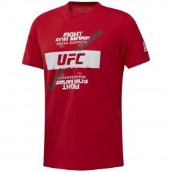 Reebok UFC FG Fight For Yours Tee Férfi Póló (Piros-Fehér) DU4581