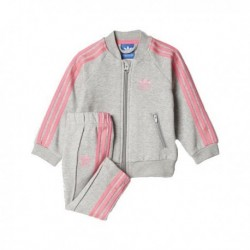 Adidas Originals Superstar Track Suit Kislány Bébi Melegítő Együttes (Szürke-Rózsaszín) BQ4436