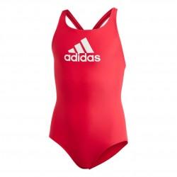 Adidas Badge Of Sport Swimsuit Lány Gyerek Úszó Dressz (Piros-Fehér) DQ3375