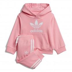 Adidas Originals Trefoil Hoodie Set Kislány Bébi Együttes (Rózsaszín-Fehér) DV2810