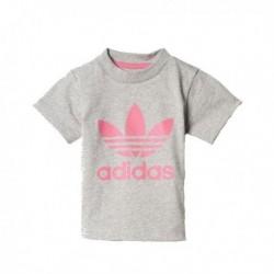 Adidas Originals I Trefoil Tee Kislány Bébi Póló (Szürke-Rózsaszín) BQ3916