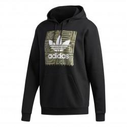 Adidas Originals Dakari Logo Hoodie Férfi Pulóver (Fekete-Zöld) DU8371