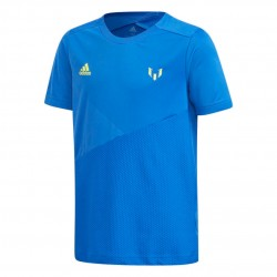 Adidas Messi Tee Fiú Gyerek Póló (Kék-Sárga) DV1321