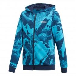 Adidas Young Boy AOP Full Zip Fiú Gyerek Felső (Kék) DV1788