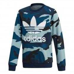 Adidas Originals Camouflage Crew Fiú Gyerek Pulóver (Kék) DW3826