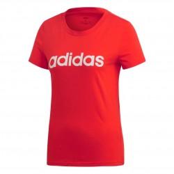 Adidas Essentials Linear Slim Tee Női Póló (Piros-Fehér) DU0631