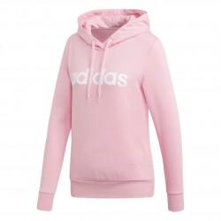 Adidas Essentials Linear Pullover Hoodie Női Pulóver (Rózsaszín) DU0644