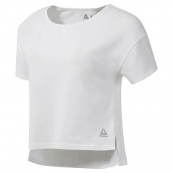 Reebok Combat Perforated Crop Top Női Póló (Fehér) DU5009