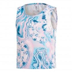 Adidas Originals Marble Cropped Tank Lány Gyerek Trikó (Rózsaszín-Kék) DV2358