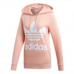 Adidas Originals Trefoil Hoodie Női Pulóver (Barack-Fehér) DV2560