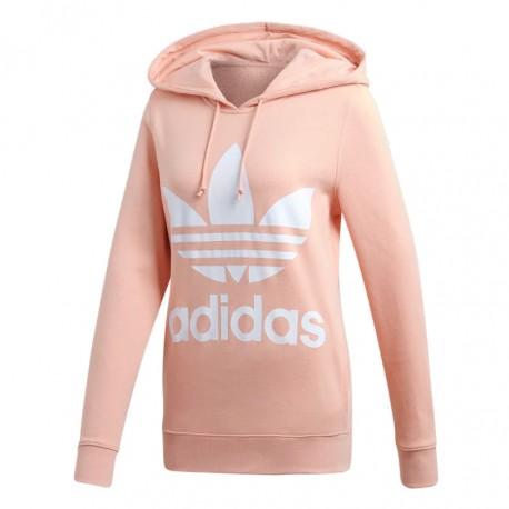 7e46a2da08de Adidas Originals Trefoil Hoodie Női Pulóver (Barack-Fehér) DV2560