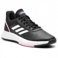 Adidas Courtsmash Női Tenisz Cipő (Fekete-Rózsaszín) F36719