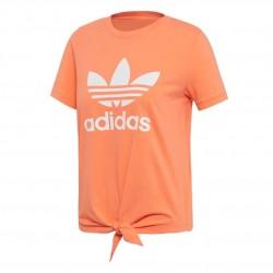 Adidas Originals Knotted Trefoil Tee Női Póló (Narancssárga-Fehér) FH8000