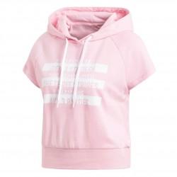 Adidas Sport ID Hoodie Női Felső (Rózsaszín-Fehér) DU0234