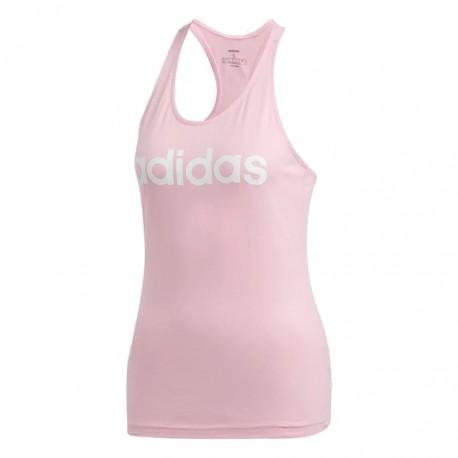 784287f6e1 Adidas Essentials Linear Tank Top Női Trikó (Rózsaszín-Fehér) DU0623