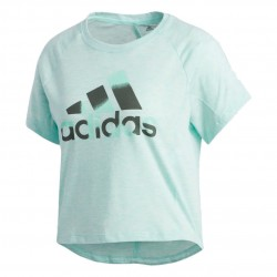 Adidas Boxy Badge Of Sport Tee Női Póló (Zöld) DU3469