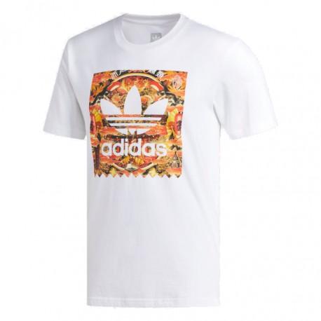 Adidas Originals Evisen BB Fill Tee Férfi Póló (Fehér-Narancssárga) DU8356