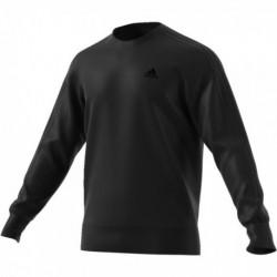 Adidas Essentials 3 Stripes Crew Sweatshirt Férfi Pulóver (Fekete) CD8704