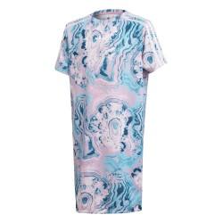 Adidas Originals Marble Tee Dress Lány Gyerek Ruha (Kék-Rózsaszín) DV2354