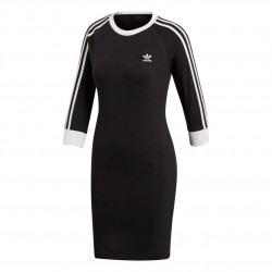 Adidas Originals 3 Stripes Dress Női Ruha (Fekete-Fehér) DV2567
