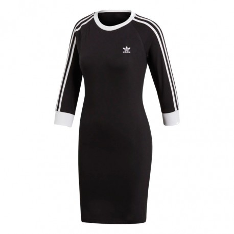 2258c35ec3 Adidas Originals 3 Stripes Dress Női Ruha (Fekete-Fehér) DV2567