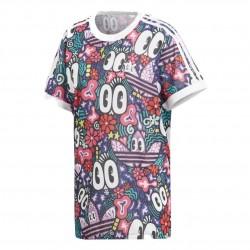 Adidas Originals 3 Stripes Tee Női Hosszított Póló (Színes) DV2656