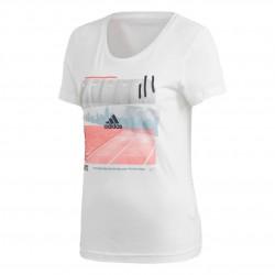 Adidas 3 Stripes Photo Tee Női Póló (Fehér) DV3023