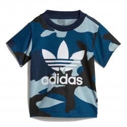 Adidas Originals Camouflage Tee Kisfiú Bébi Póló (Kék-Fehér) DW3853