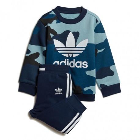48498e752d Adidas Originals Camouflage Crewneck Set Kisfiú Bébi Együttes (Kék) DW3856