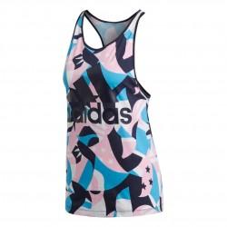 Adidas Sport ID Printed Tank Top Női Trikó (Kék-Rózsaszín) DP2378