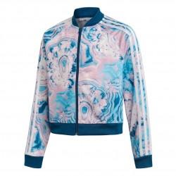 Adidas Originals Marble Cropped SST TJ Lány Gyerek Felső (Kék-Rózsaszín) DV2356