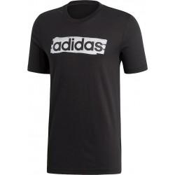 Adidas Essentials Linear Brush Tee Férfi Póló (Fekete-Fehér) DV3046