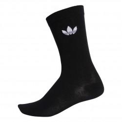 Adidas Originals Thin Trefoil Crew Socks 2P 2 Páras Zokni (Fekete-Fehér) DV1729