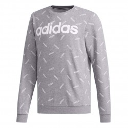 Adidas Graphic Sweatshirt Férfi Pulóver (Szürke-Fehér) DX0466