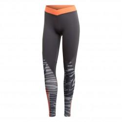 Adidas Alphaskin Iteration Leggings Női Leggings (Szürke-Narancssárga) DX7541