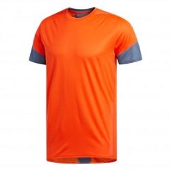 Adidas 25/7 Tee Run Rise Férfi Futó Póló (Narancs-Szürke) EI6322