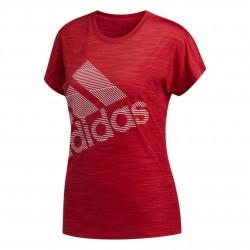 Adidas Badge Of Sport Tee Női Póló (Piros-Fehér) EB4493