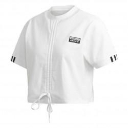 Adidas Originals Ruched Tee Női Póló (Fehér-Fekete) ED5813