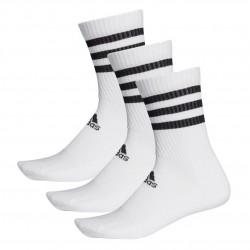 Adidas 3 Stripes Cushioned CS 3P 3 Páras Zokni (Fehér-Fekete) DZ9346