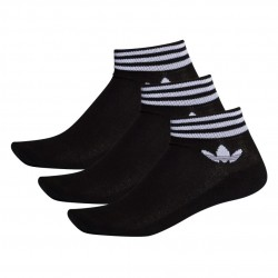 Adidas Originals Trefoil Ankle Socks 3 P 3 Páras Zokni (Fekete-Fehér) EE1151