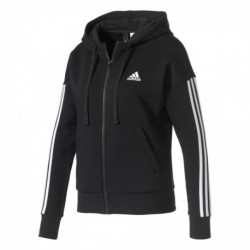 Adidas Essentials 3 Stripes Full Zip Hoodie Női Felső (Fekete-Fehér) S97059